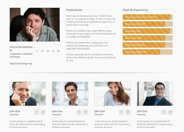 Plataforma e-Learning Instructores