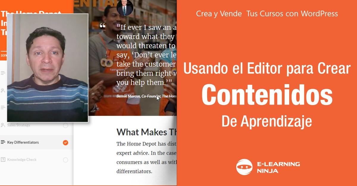 Usando el Editor para crear Contenidos de Aprendizaje